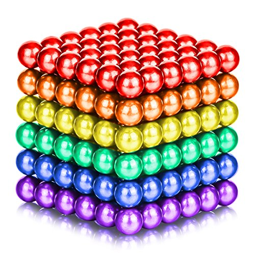 ATESSON Magnetic Sculpture Balls Intellectual Office Toys Anxiety Stress Relief Killing Time Puzzle Creative Educational Toys for Kids Adults (6 Colors