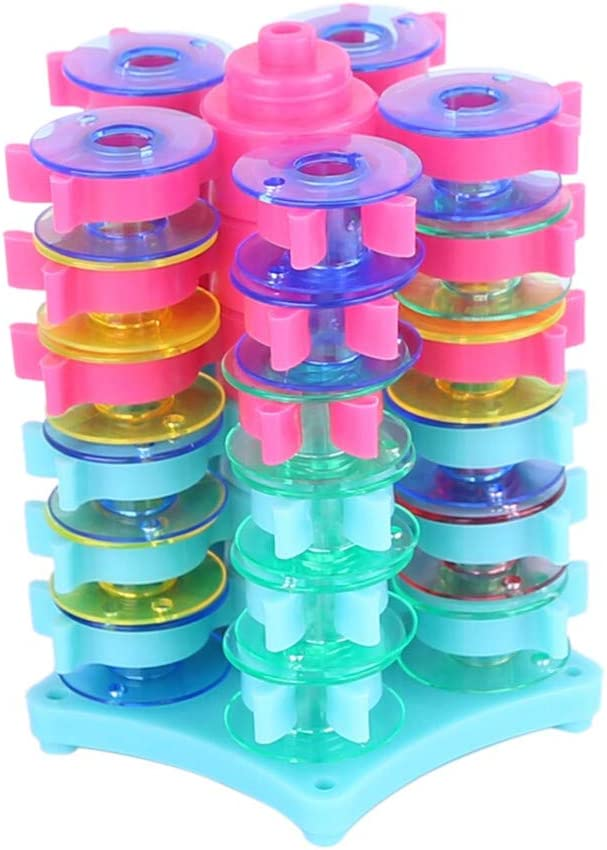 charts/_DRESS Stack n Store Bobbin Tower Multicolor Sewing Thread Bobbin Holder Clamp Clips Column Bobbin Buddies for Embroidery