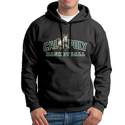 Cal Poly Mustangs Pullover Hooded Men Black Sweatshirt Hoodie
