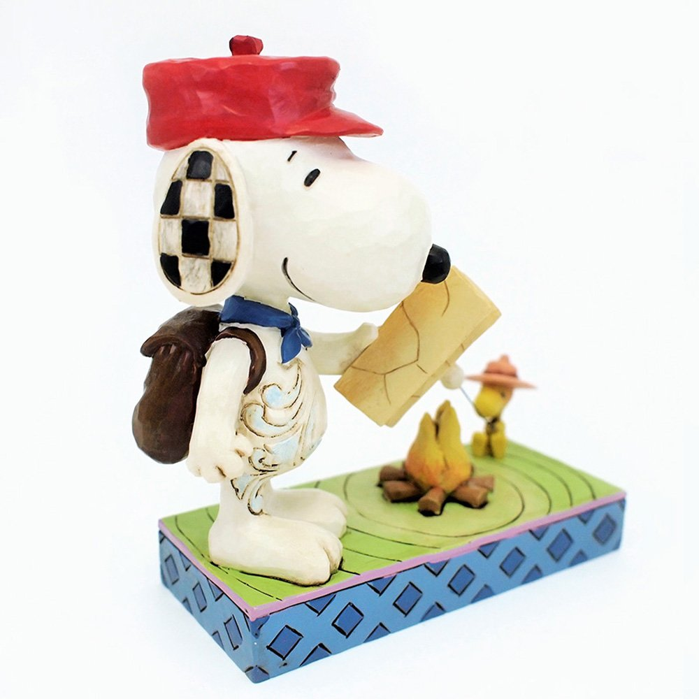 Peanuts by Jim Shore Snoopy and Woodstock Campfire Stone Resin Figurine, 5.25
