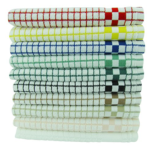 Fecido Classic Kitchen Dish Towels Set - Heavy Duty - Super Absorbent - 100% Cotton - Professional Grade Dish Cloths - European Made Tea Towels - 10 Pack, Multi Color by Fecido (Image #6)