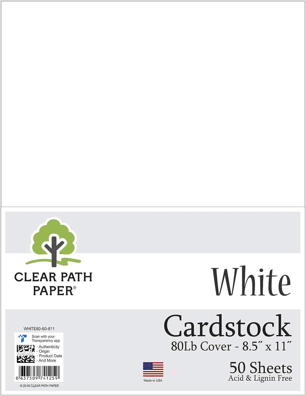 Cartulina blanca – 8,5 x 11 pulgadas – 80LB Cover: Amazon.es: Juguetes y juegos