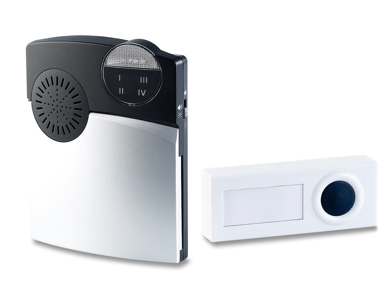 CASAcontrol Funk-Empfänger mit Klingel-Knopf für Alarmanlage XMD-30e und XMD-30f