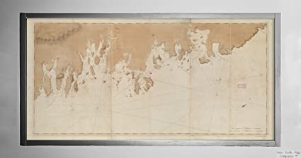 Amazon.com: 1776 Map Maine|Washington|Coast of Maine from ...