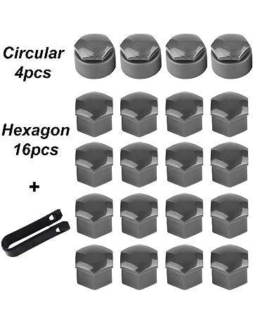 Tapas-set SW 21 para 24 tornillos//tuercas de rueda-negro