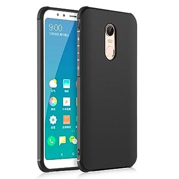 brand new 5e22d 974c9 SMTR Xiaomi Redmi 5 Plus Case Cover with Soft TPU Material Protective Cases  for Xiaomi Redmi 5 Plus (Black)
