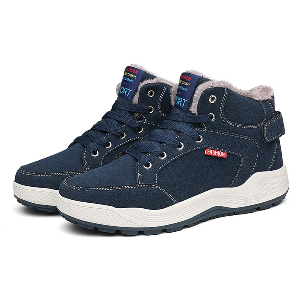 SITAILE Mens Snow Boots Winter Fur Lined Warm Shoes Waterproof Outdoor High Top Sneakers by SITAILE (Image #4)