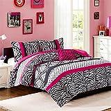 Mi-Zone Reagan Comforter Set, Pink, Full/Queen(MZ10-228)