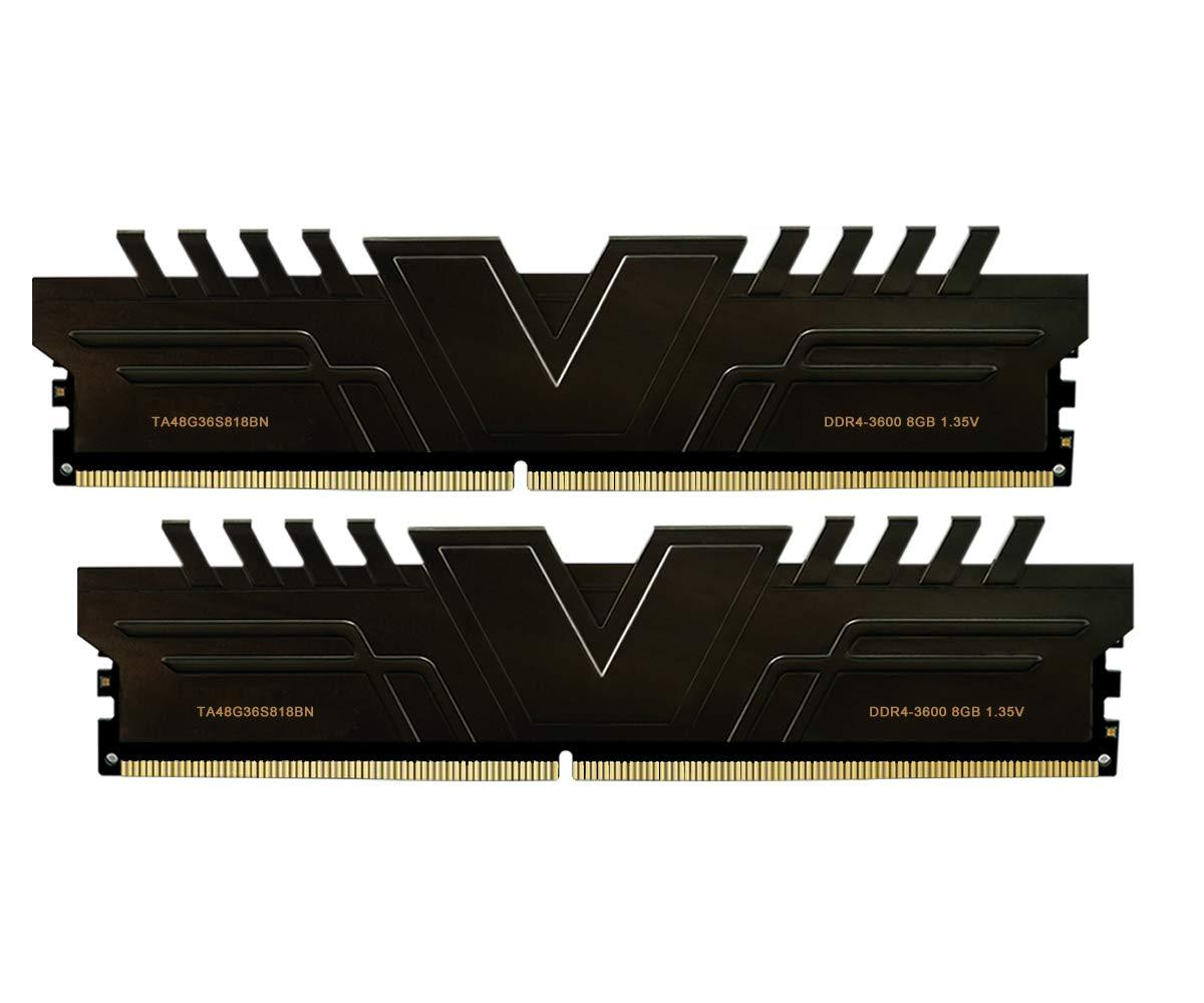 Memoria RAM 16GB V-Color Skywalker Series (2 x 8GB) DDR4 3600MHz (PC4-28800) CL18 1.35V Modelo Black (TA48G36S818BNK)