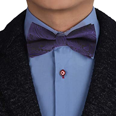 Silk bow tie pre tied or self tie one size on an adjustable neck band