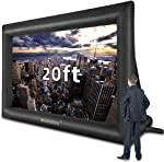 20 Feet Inflatable Outdoor and Indoor Theater Projector Screen - Includes