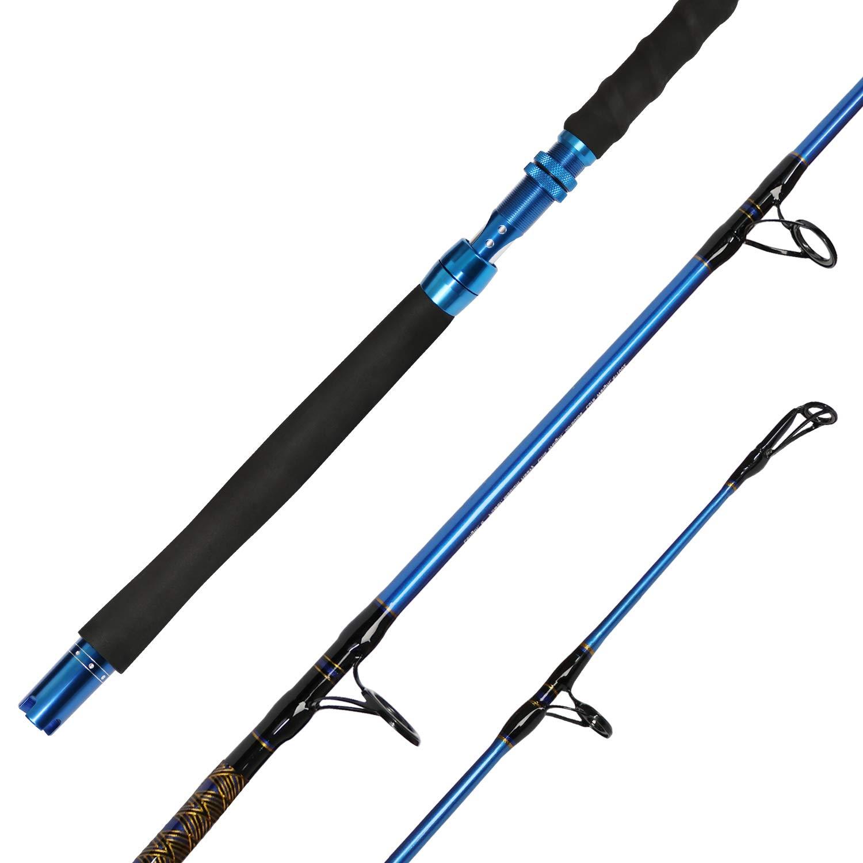 Fiblink Saltwater Graphite Jig Jigging Spinning Fishing Rod Deep Sea Jig Pole (6-Feet, Medium Heavy, 50-80lbs) by Fiblink