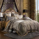 MKXI Paisley Bedding European Royalty Duvet Cover Set Sateen Textile Queen Set,3 Pieces