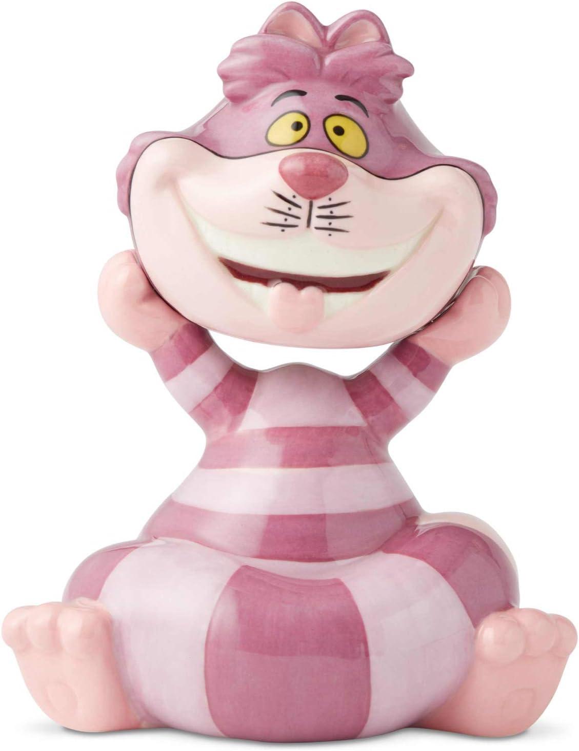 Enesco Disney Ceramics Alice in Wonderland Cheshire Cat Salt and Pepper Shakers, 4.5 Inch, Multicolor