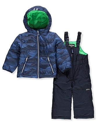 2f1ac1355045 Amazon.com  OshKosh B Gosh Boys  Ski Jacket and Snowbib Snowsuit Set ...