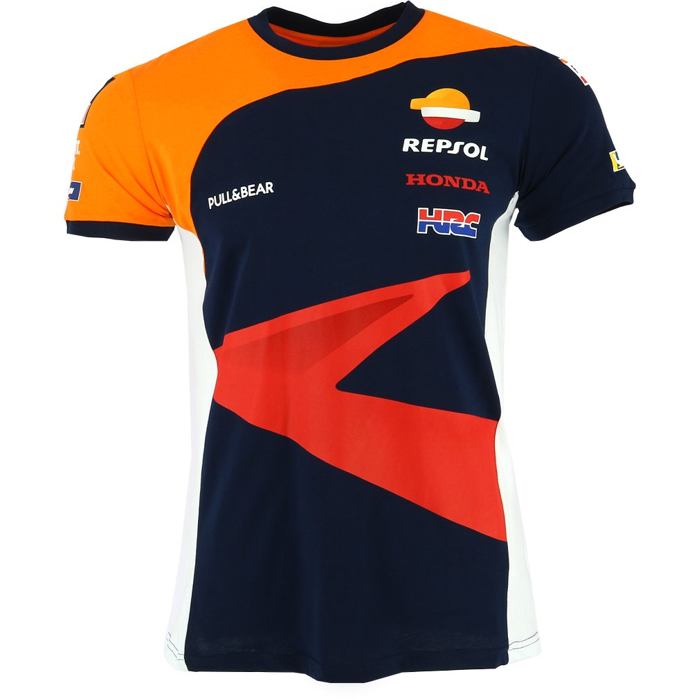 Pritelli 1838501/XL Honda Repsol Moto GP Teamwear ré plique Panel T-Shirt Officiel 2018, Bleu
