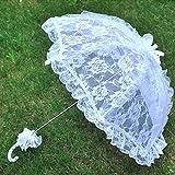 Lace Floral Parasol Umbrella Decoration Wedding