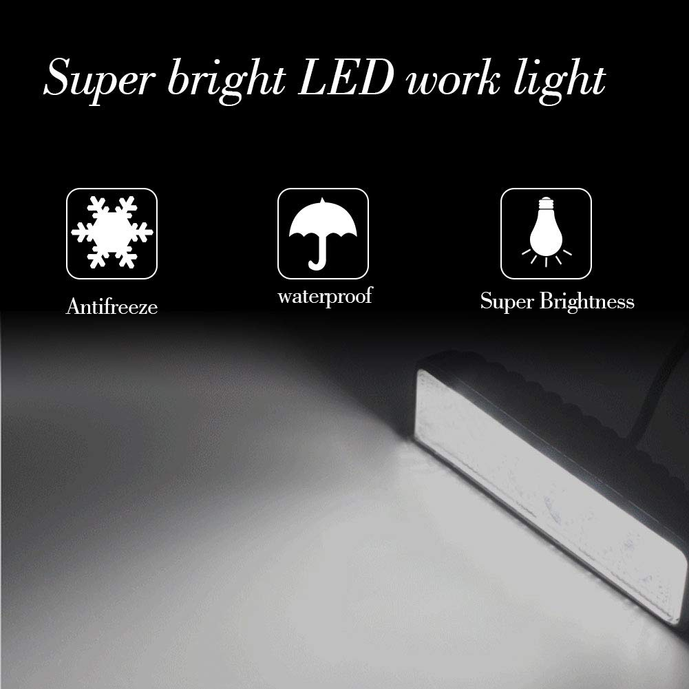 BeiLan LED Arbeitsscheinwerfer,5 Inch 72W Cree LED Zusatzscheinwerfer 5760LM Auto Scheinwerfer Offroad Flutlicht Spotlight Wasserdicht IP67 Arbeitslicht 6000K 12V//24V 2 St/ück