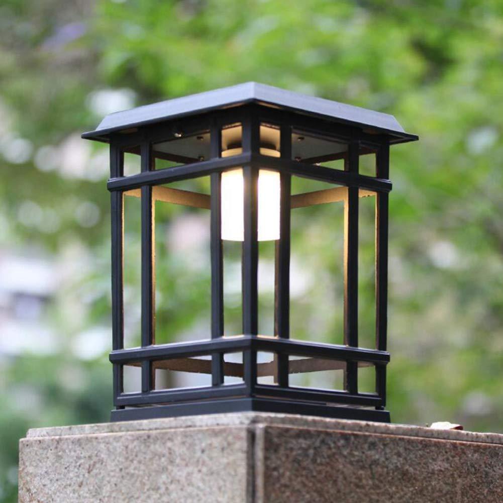 Suguoguo Solarzärtenscheinwerfer, Rasenleuchten, Wandleuchten, Landschaftsgartenleuchten, Wasserdichte Außenluftpflegeleuchten, einfache Moderne