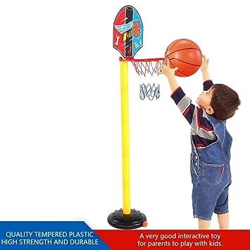 VGBEY Juguete de Baloncesto para Niños, Mini Juego Ajustable de ...