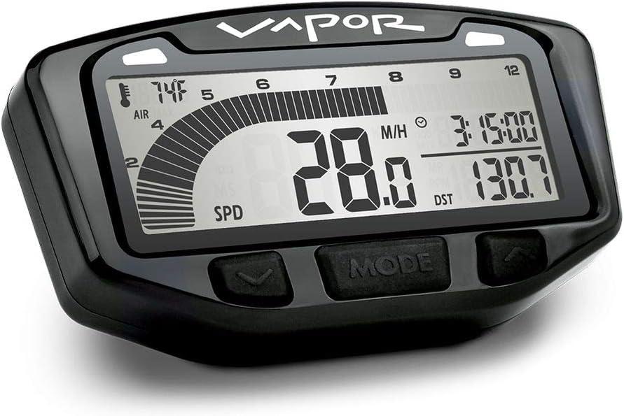 Trail Tech 752-112 Black Vapor Digital Speedometer Tachometer Gauge Kit