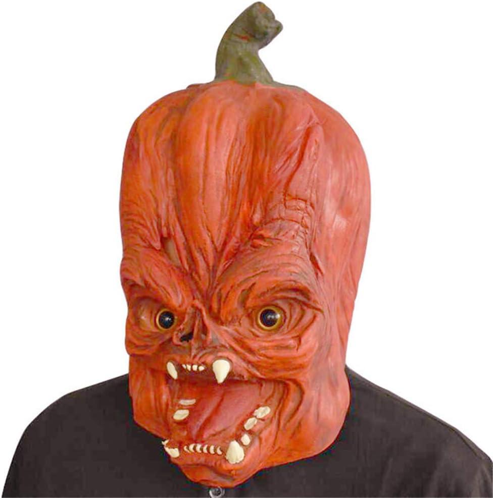 MUKEE Máscara de Cabeza de Calabaza de Halloween Diversión Máscara ...