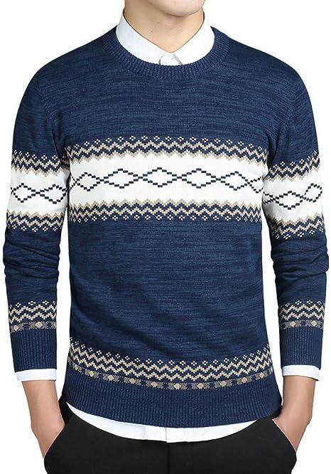 FEIDAO Hombr Jerseys Color Negro para Hombre Suéter Capa del ...