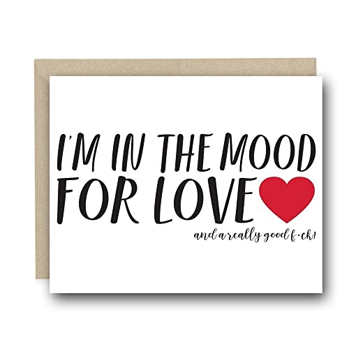 Naughty Valentine's Day Greeting Card for Him - I'm In the Mood For Love