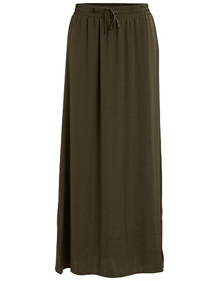 Vila Clothes Vimelli New Maxi Skirt-Noos Falda, Verde (Ivy Green ...