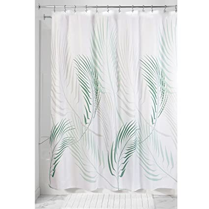 InterDesign Fern Soft Fabric Shower Curtain 72quot X