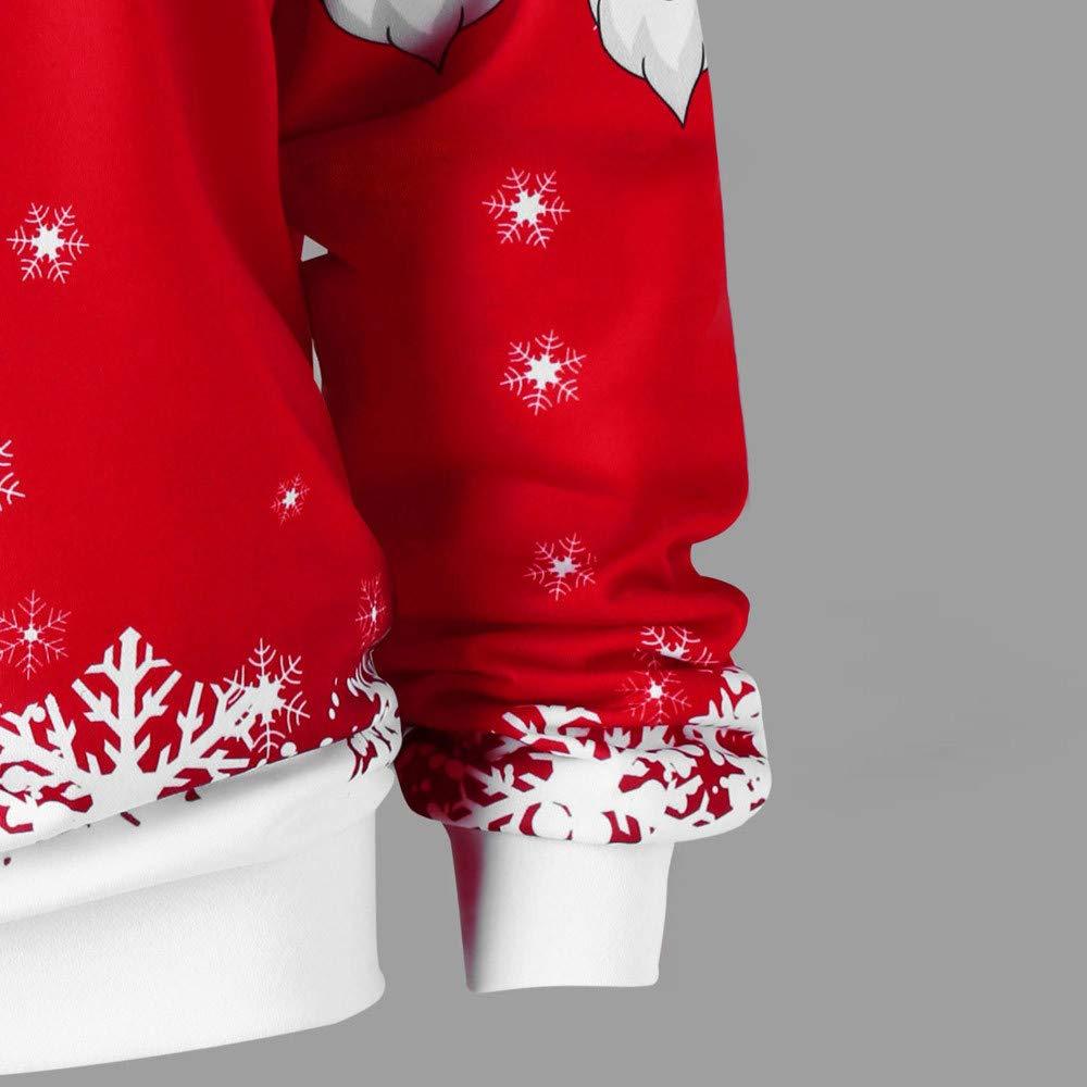 Beikoard Frauen Weihnachten Weihnachtsmann Diagonal Kragen