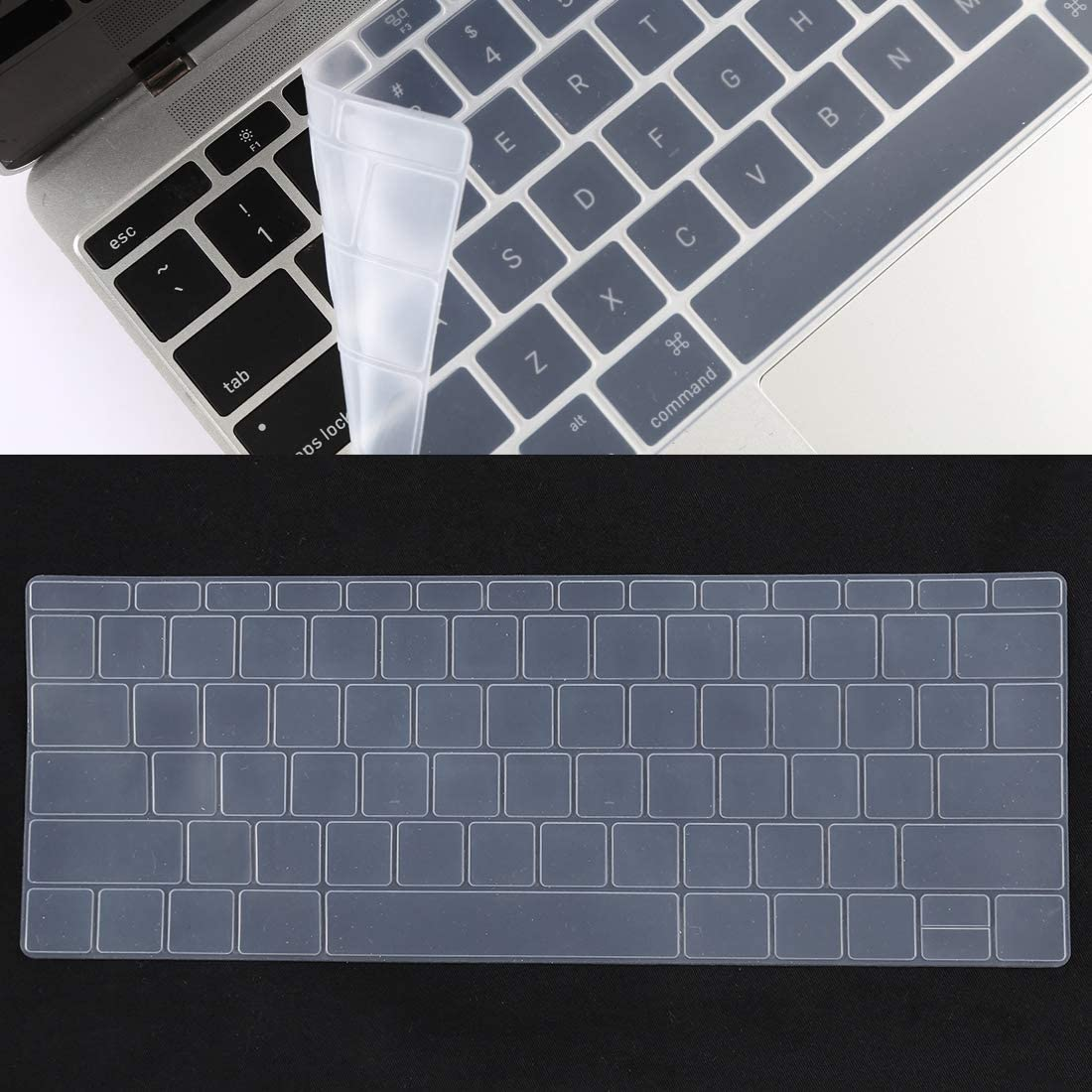 A1534 // A1708 Black Color : Black CellphoneMall Protectors Keyboard Protector Silica Gel Film for MacBook Retina 12 // Pro 13