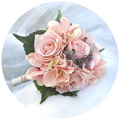 Topqueen Blumenstrauss Hochzeit Kunstlich Hochzeitsstrauss