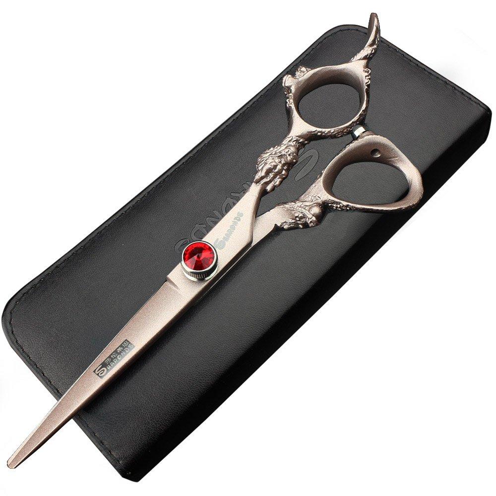 Sharonds 6 pouces Coupe de cheveux et ciseaux à effiler Cheveux Salon Barber Ciseaux Set