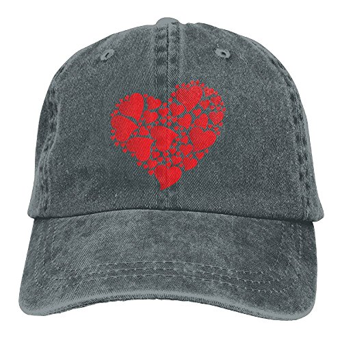 KJDS Adult Unisex Heart Hats with Adjustable Sport Washed Cap for Mens & Woman ()