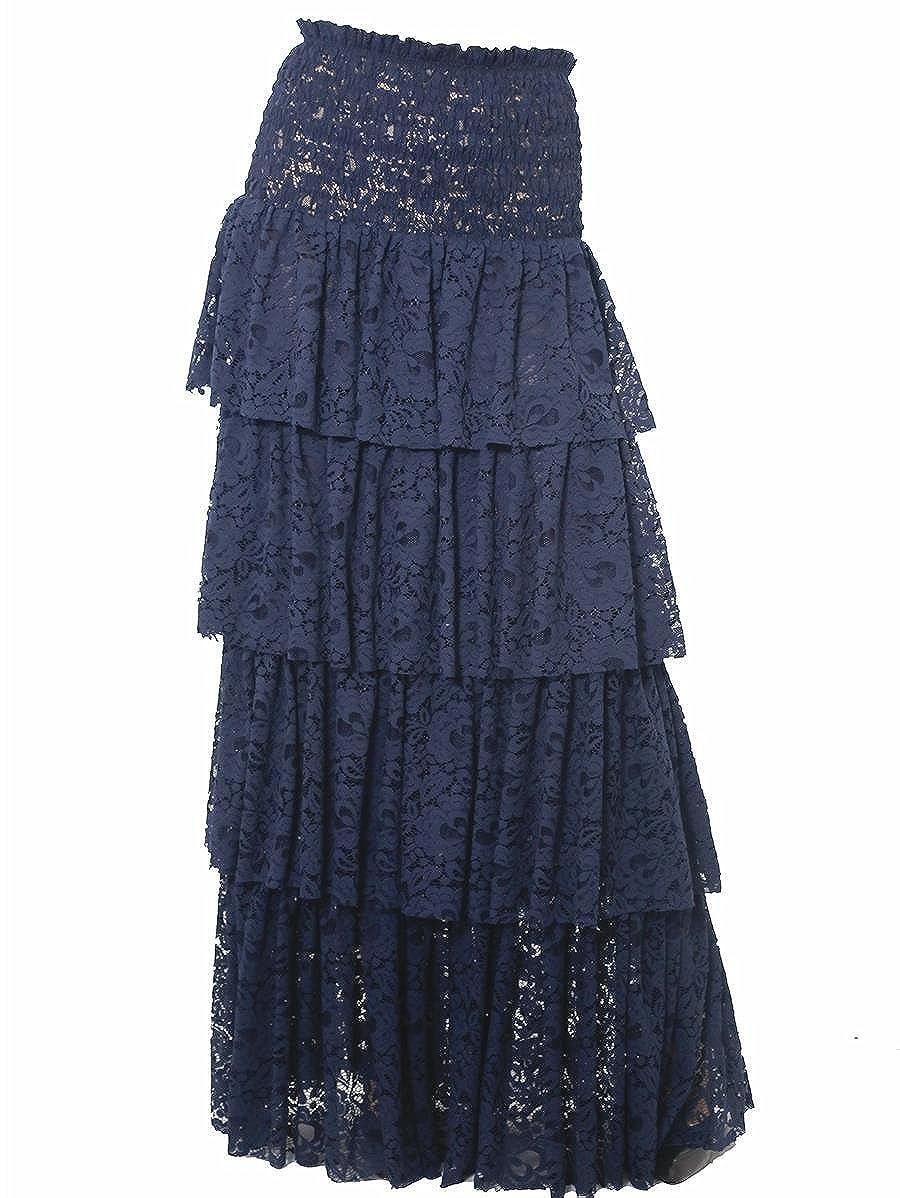 48c0eed8d8 Pinko Lightweight Cotton Lace Skirt: Amazon.co.uk: Clothing