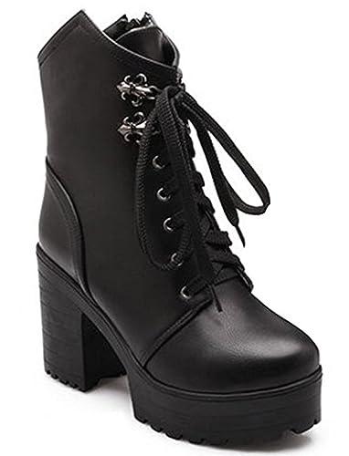 f410706817b2f Amazon.com   SYJO Women's Comfy Platform High Heels Chunky Ankle ...