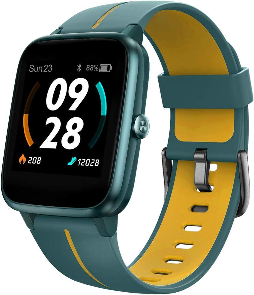 UMIDIGI Reloj Inteligente con GPS,Smartwatch Hombre Mujer Niños con Monitor de Frecuencia Cardíaca, Esfera Personalizada, 1.3