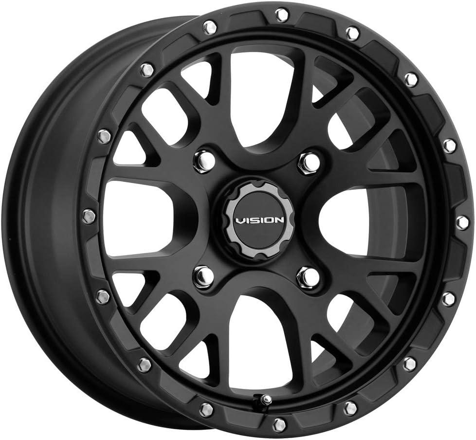 38mm Satin Black Wheel Rim 14 Inch Vision 545 Rocker UTV 14x7 4x156