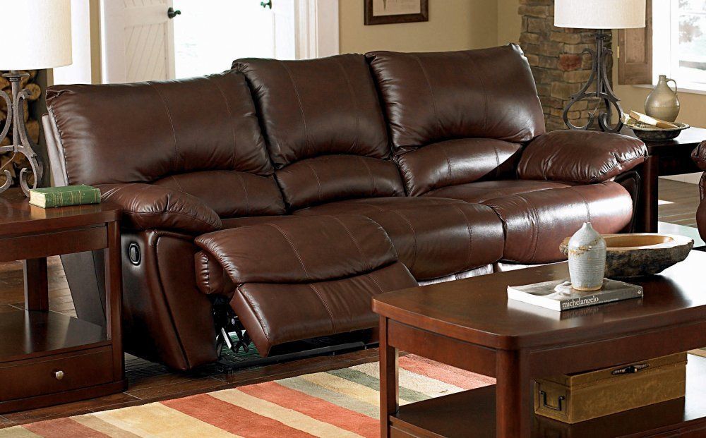 Amazoncom Coaster Home Furnishings Casual Motion Sofa Dark - Leather sofa reclining