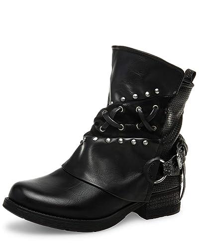 Damen Sbo090 Boots Caspar Gamaschen Vintage HWEIYD29