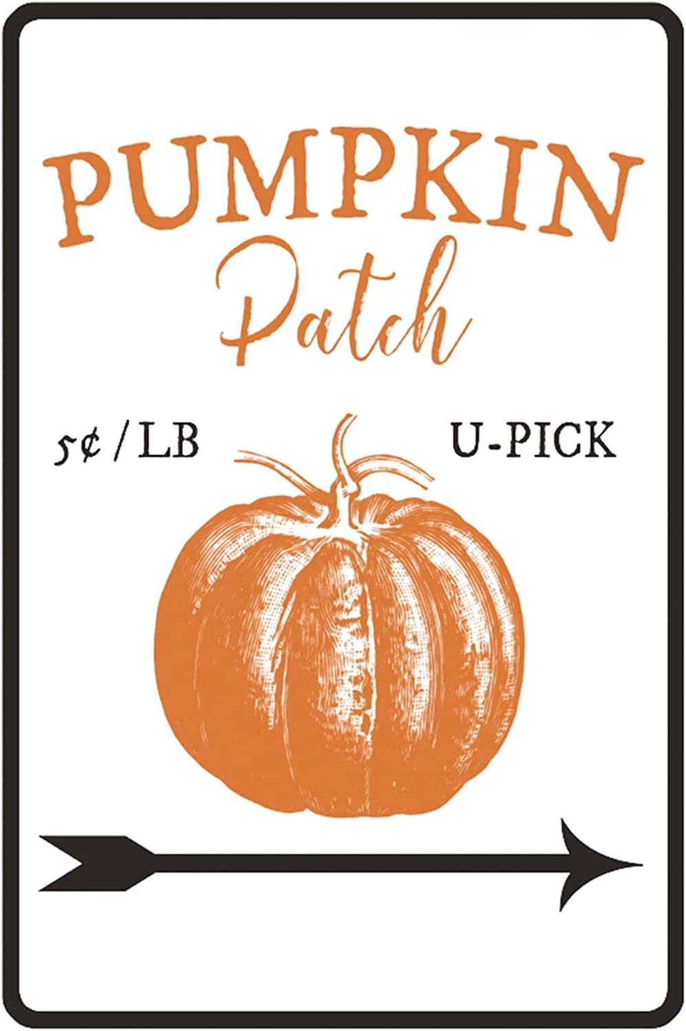 "New Metal Sign Aluminum Sign Pumpkin Patch Sign Decor Easter Lover Fall Sign for Outdoor & Indoor 12"" x 8"""