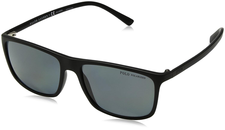 Polo Ralph Lauren 0PH4115, Gafas de Sol para Hombre, Negro (Matte ...