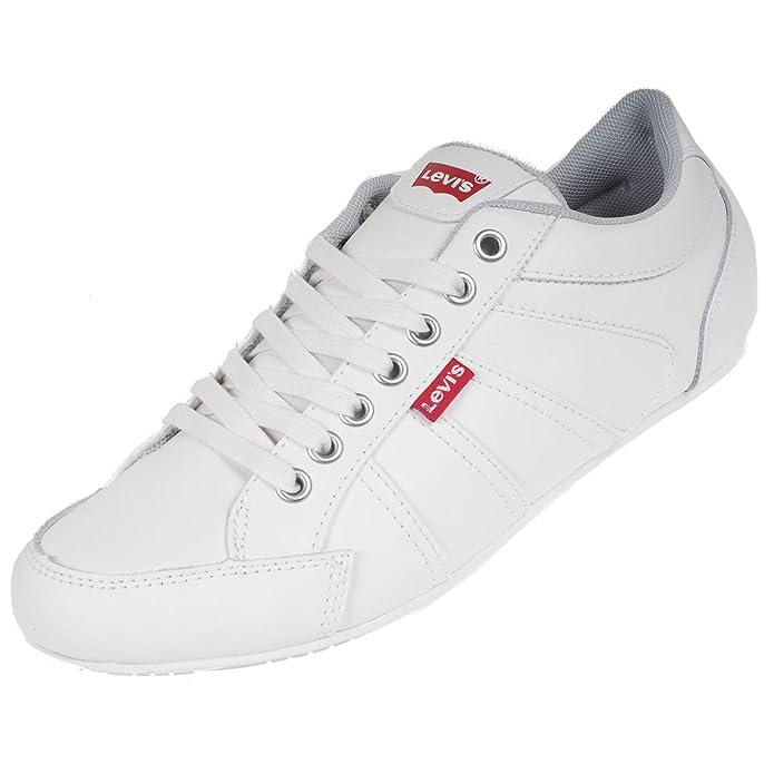 Levis - Zapatillas para hombre, color blanco, talla 46 EU: Amazon.es: Zapatos y complementos