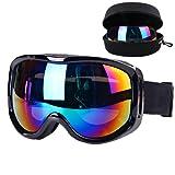 Boonor スキーゴーグル スノボーゴーグル 紫外線防止 防水 高品質 防護 耐衝撃 曇り止め 軽量 コンパクト 男女兼用 登山/サバゲー/バイク/スキー運動に全面適用
