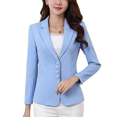 Blazer Mujer Cortos Formal Negocios Oficina Cazadoras Abrigos Mode De Marca Elegante De Solapa Manga Largo Fashion Exquisito Slim Fit Outerwear Color ...
