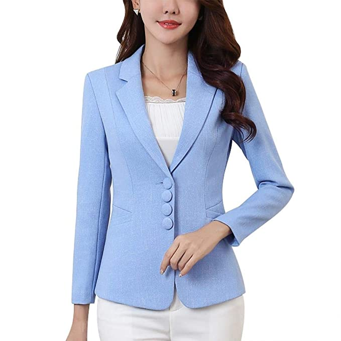 Blazer Mujer Cortos Formal Negocios Oficina Cazadoras Abrigos Mode De Marca Elegante De Solapa Manga Largo Fashion Exquisito Slim Fit Outerwear Color ...