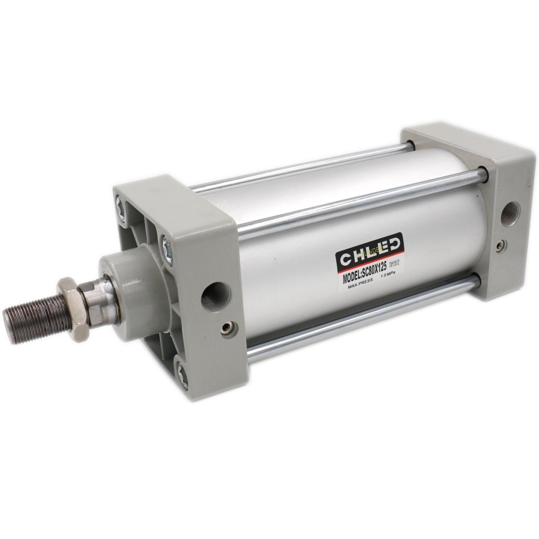 Baomain Pneumatic Air Cylinder SC 80 x 150 PT 3/8, Bore: 80mm, Stroke: 150mm, Screwed Piston Rod Dual Action 1 Mpa