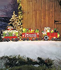 Amazon.com : Santa Christmas Express Train Christmas Yard ...