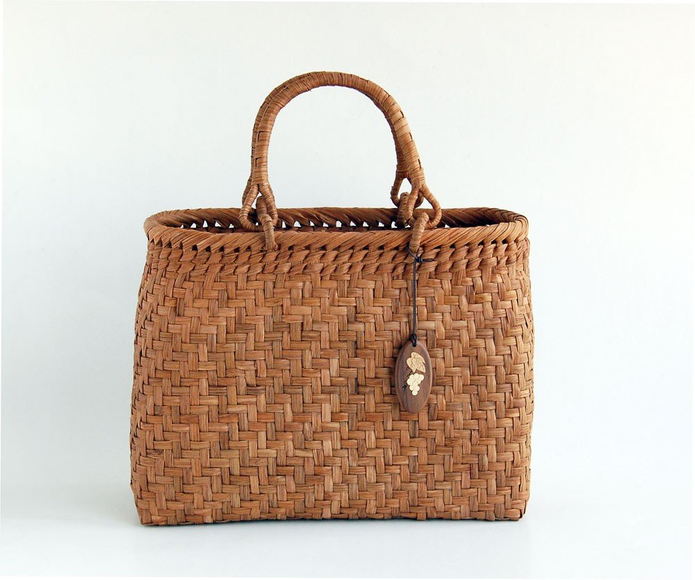 Yamako Mountain Grape Basket Handbag with Inner Cloth 88046 by Yamako (Image #2)
